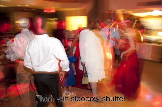 flash with slow shutter speed