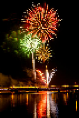 Pixelated Fireworks